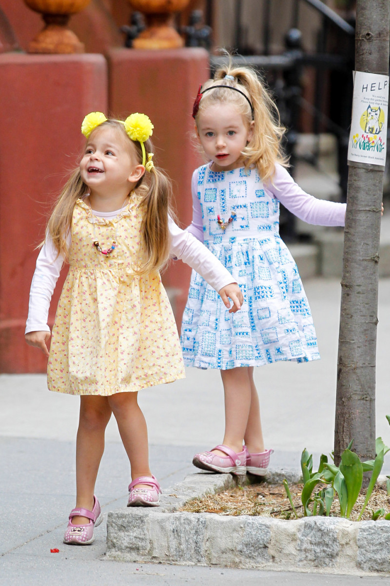 Marion Broderick and Tabitha Broderick are dressed for and ready for spring